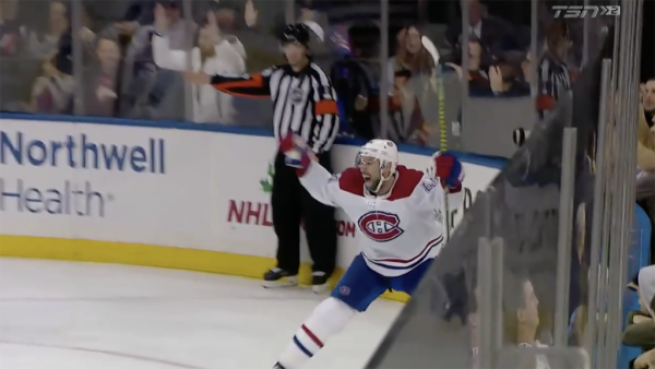 Thompson late goal lifts Canadiens past Rangers