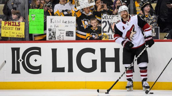 Kessel appreciates reception from Pittsburgh fans in return with Coyotes