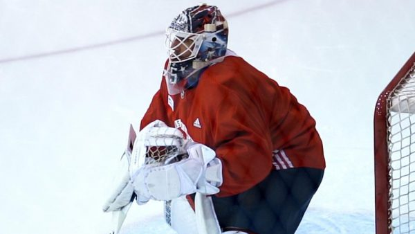 Lundqvist skates for first time since having open-heart surgery