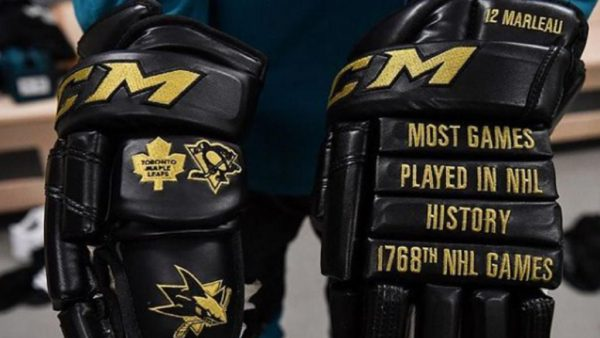 Sharks, NHL community applaud Marleau for games record