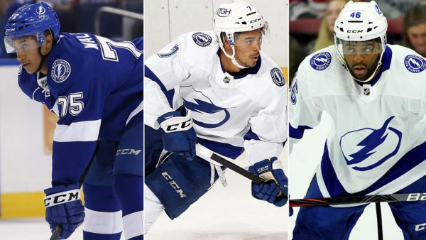 Lightning start all-Black forward line in game against Panthers