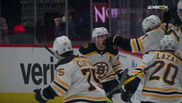 Marchand scores in OT, Bruins top Capitals in Game 2 to even series
