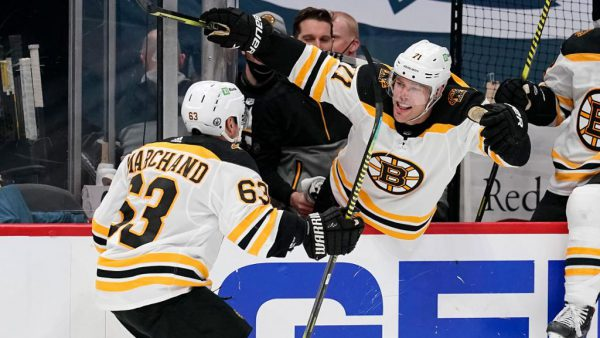 Hall, Marchand change tone of series for Bruins in Game 2
